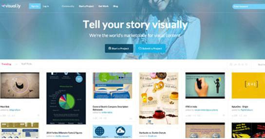 在Daily Infographic,你可以发现找到很多有用的信息图。这些信息图来自各种网站和新闻媒体,多是一些非常能引人注意的作品,通过观察分析,你可以了解大众对信息图的喜好,从而将这些技巧运用到你的设计中。如果你看到一些分享量很大的图片,建议保存下来、写一些心得见解。 Visual.