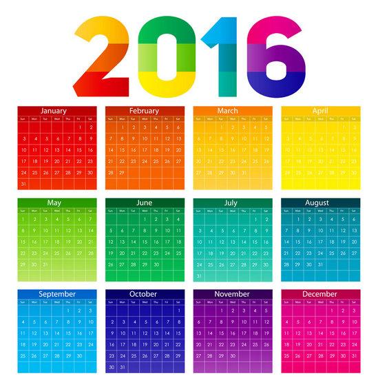 2016年广告公关日历表(收藏)