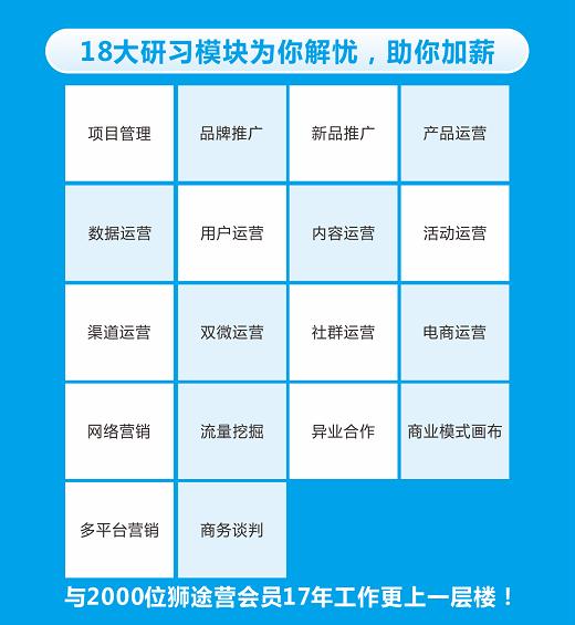 yanxi 运营人18项全能训练营|91狮途营VIP会员招募ing