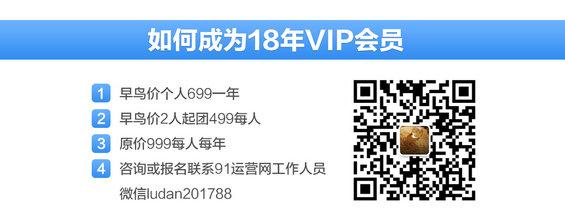 1 【超值】仅100张早鸟票,先抢先得!91运营网集训营VIP会员火热招募中!