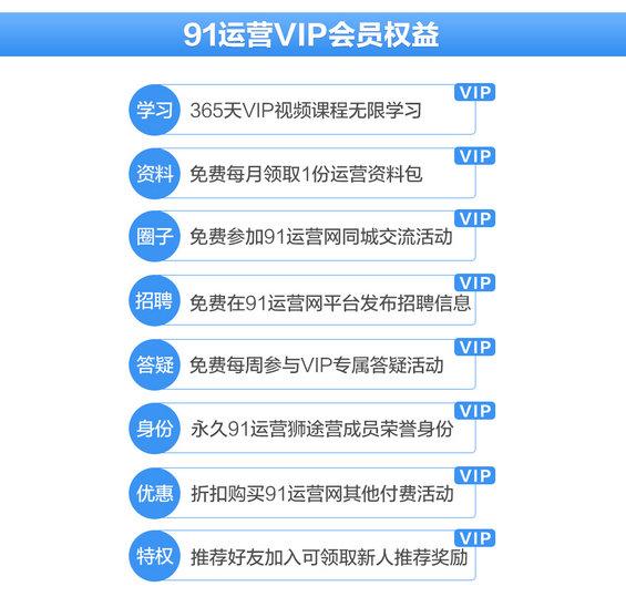 4 【超值】仅100张早鸟票,先抢先得!91运营网集训营VIP会员火热招募中!