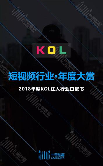 2018年度KOL红人行业白皮书!