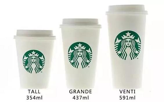 星巴克的中杯、大杯、超大杯,蕴含了哪些玄机?