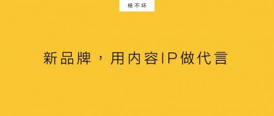 新品牌,用内容IP做代言